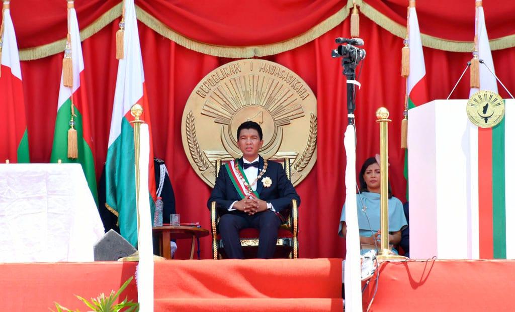 © 2019 Présidence de la République de Madagascar - SEM Président Andry Rajoelina lors de l'Investiture à Mahamasina